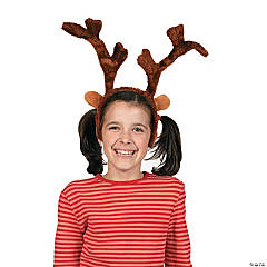 Plush Deluxe Reindeer Antlers Headbands