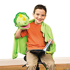 Plush Dinosaur Puppet Friend