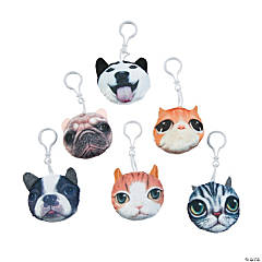 Plush Dog & Cat Zipper Pulls