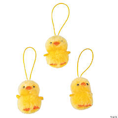 Plush Duckling Ornaments