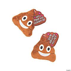 Plush Emoji Poo with Valentine's Day Cards