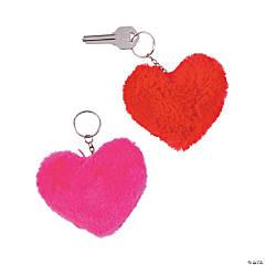 Plush Heart Key Chains