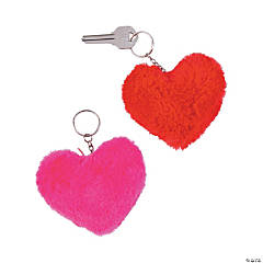 Plush Heart Keychains