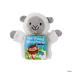 Plush Jesus is the Shepherd Lamb Puppet with Book