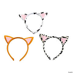 Plush Kitty Ear Headbands