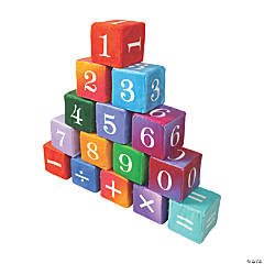 Plush Math Dice Set