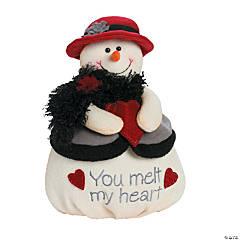 Plush Mrs. Softy You Melt my Heart Snowman