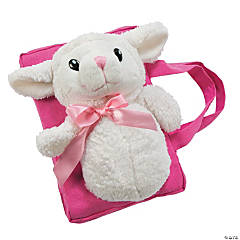 Plush Pink Lamb of God Bible Cover