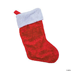 Plush Red Christmas Stockings