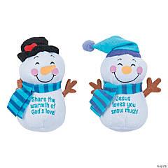 Plush Religious Snowmen