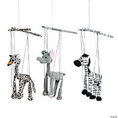 Plush Safari Animal Marionette Puppets