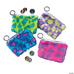 Plush Spotted Coin Purse Keychains