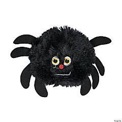 Plush Stuffed Spiders - 12 Pc.