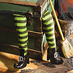 Plush Witch's Legs Halloween Décor