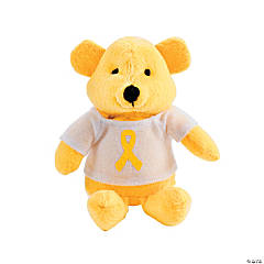 Plush Yellow Awareness Ribbon Bears