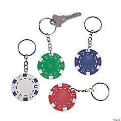 Poker Chip Keychains