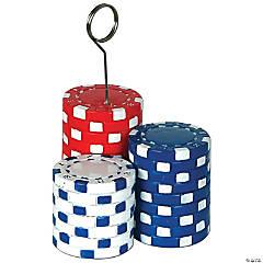 Poker Chips Photo & Balloon Holder