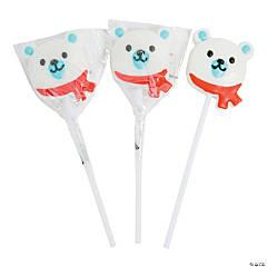 Polar Bear Face Lollipops