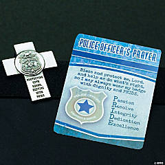 Police Officer Prayer Visor Clip