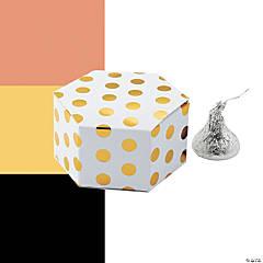 Polka Dot Hexagon Favor Boxes