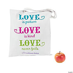 Poly/Cotton Love is Patient, Love is Kind Tote
