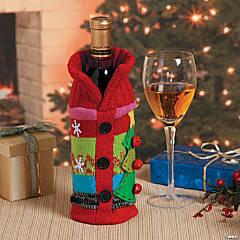 Polycotton Ugly Christmas Sweater Bottle Bag