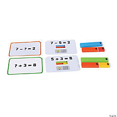 Polydron Number Rods Work Cards - Addition & Subtraction, Qty 2