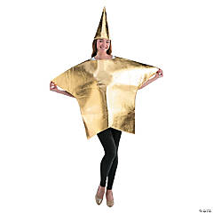 Polyester Adult's Gold Star Costume