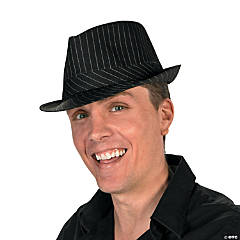 Polyester Adult's Pinstripe Fedora