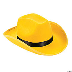 Polyester Adult's Yellow Cowboy Hat