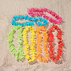Polyester Bright Color Flower Leis