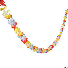 Polyester Bright Flower Lei Garland