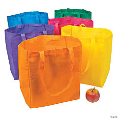 Polyester Bright Shopper Tote Bags