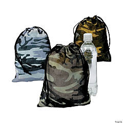 Polyester Camouflage Drawstring Bags