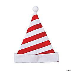 Polyester Candy Cane Santa Hat