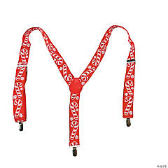 Polyester Candy Cane Suspenders