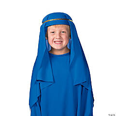 Polyester Child's Dark Blue Nativity Hat