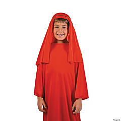 Polyester Child's Red Nativity Hat