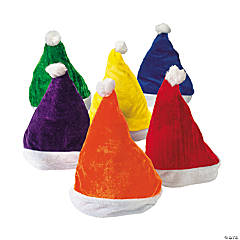 Polyester Colorful Santa Hats
