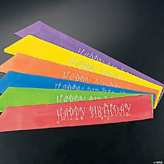 """Polyester """"Happy Birthday"""" Sashes"""
