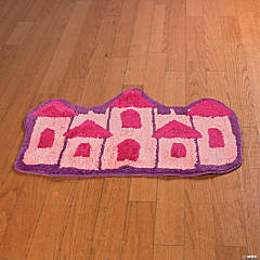 Polyester Her Mini Majesty Tiptoe on My Chateau Princess Rug