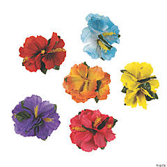 Polyester Hibiscus Hair Clips