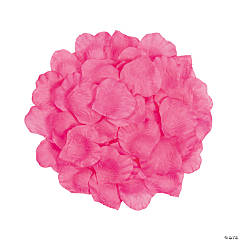 Polyester Hot Pink Rose Petals