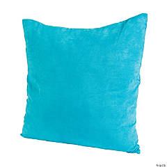Polyester Large Blue Pillow