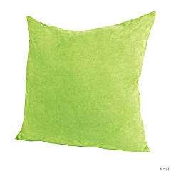 Polyester Large Green Pillow