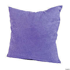 Polyester Large Purple Pillow