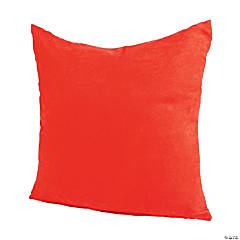 Polyester Large Red Pillows