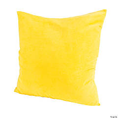 Polyester Large Yellow Pillow