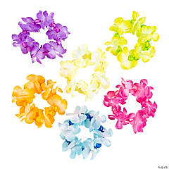 Polyester Lei Bracelets with Beads