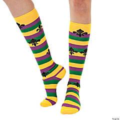 Polyester Mardi Gras Knee Socks